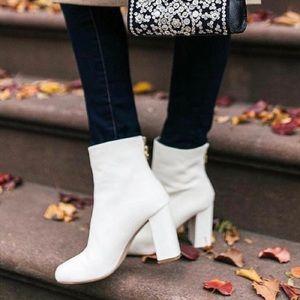 Joie Saleema White Leather Booties